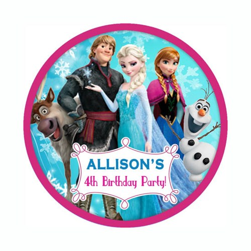 5 Images of Disney Frozen Printable Round Stickers