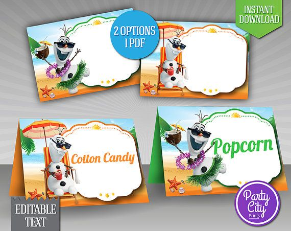 4 Images of Frozen Birthday Cards Printable Editable
