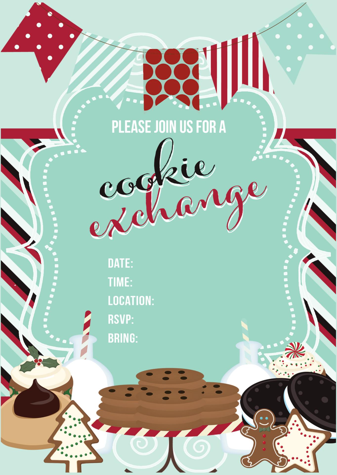 Exchange Cookie Swap Invitation Free