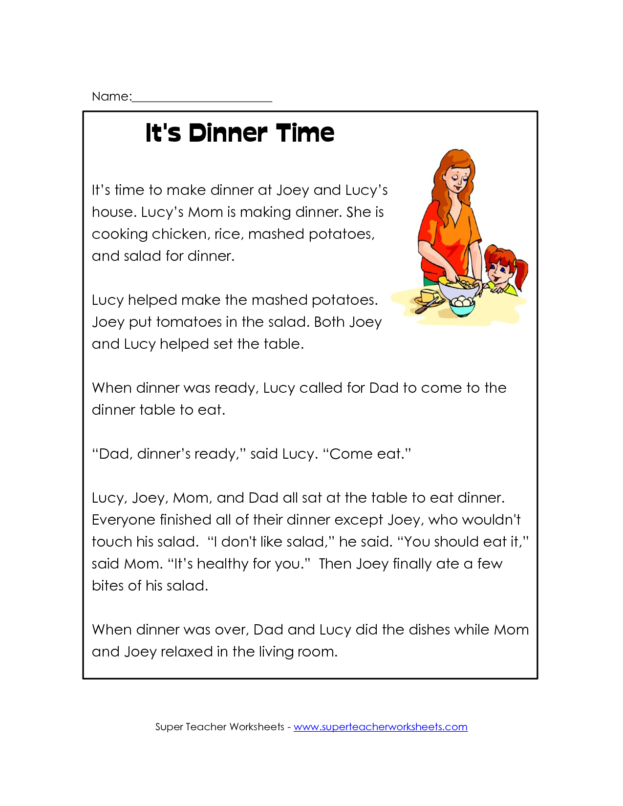 Free Reading Worksheets : Best images of printable reading worksheets for nd