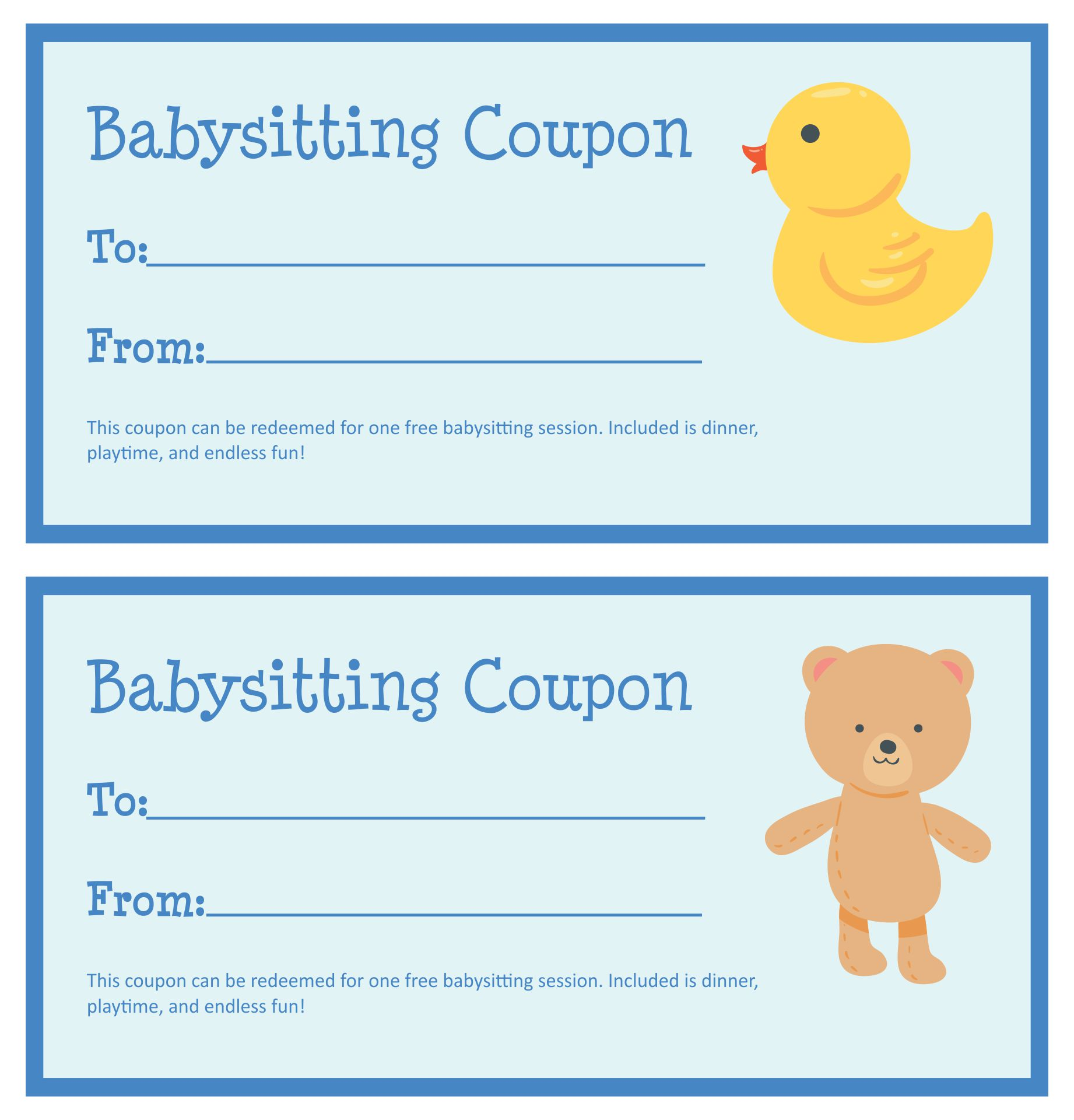 date night gift certificate templates - 8 best images of printable babysitting voucher template