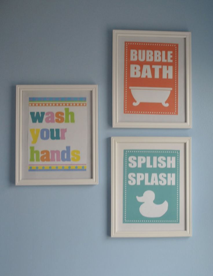 5 Images of Bathroom Wall Art Kids Free Printables