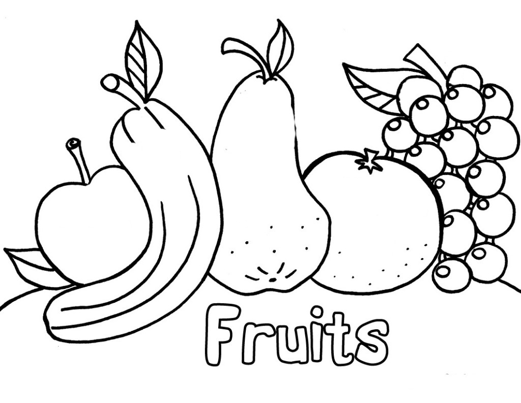7 Images of Fruit And Vegetables Coloring Printables