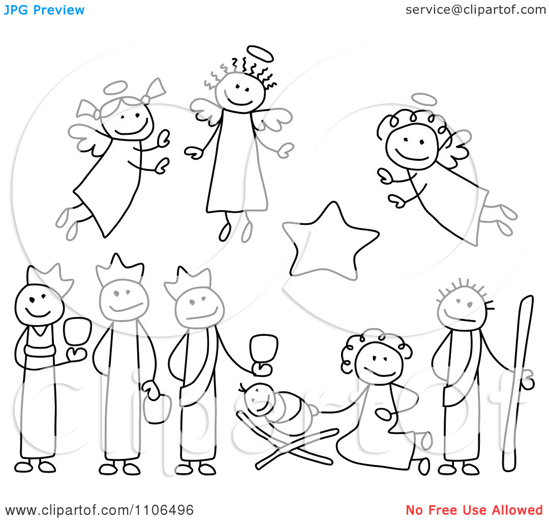 8 Best Images of Free Printable Christmas Nativity Clip ...