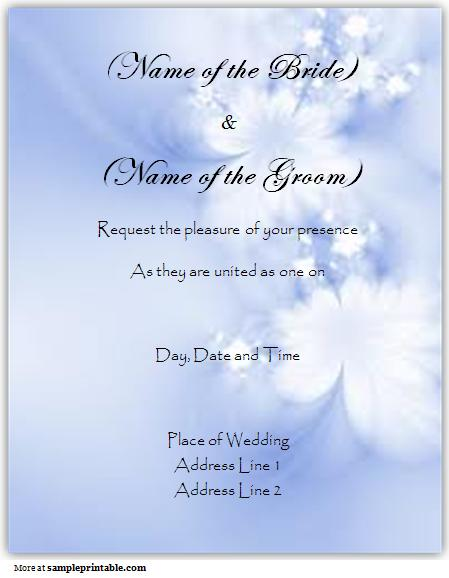 6 Images of Free Online Printable Wedding Invitation