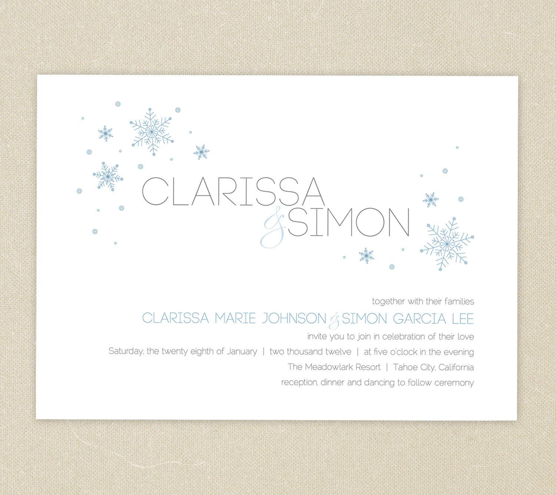 Free Online Printable Wedding Invitation Template