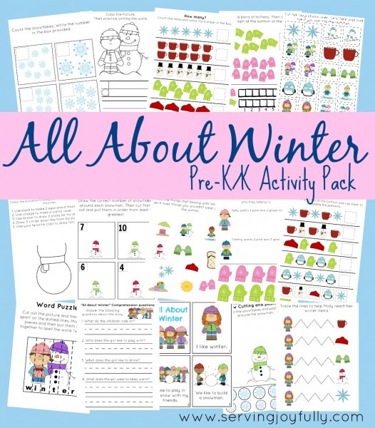 Images of Preschool Printables Free Winter Writing - Preschool Winter ...