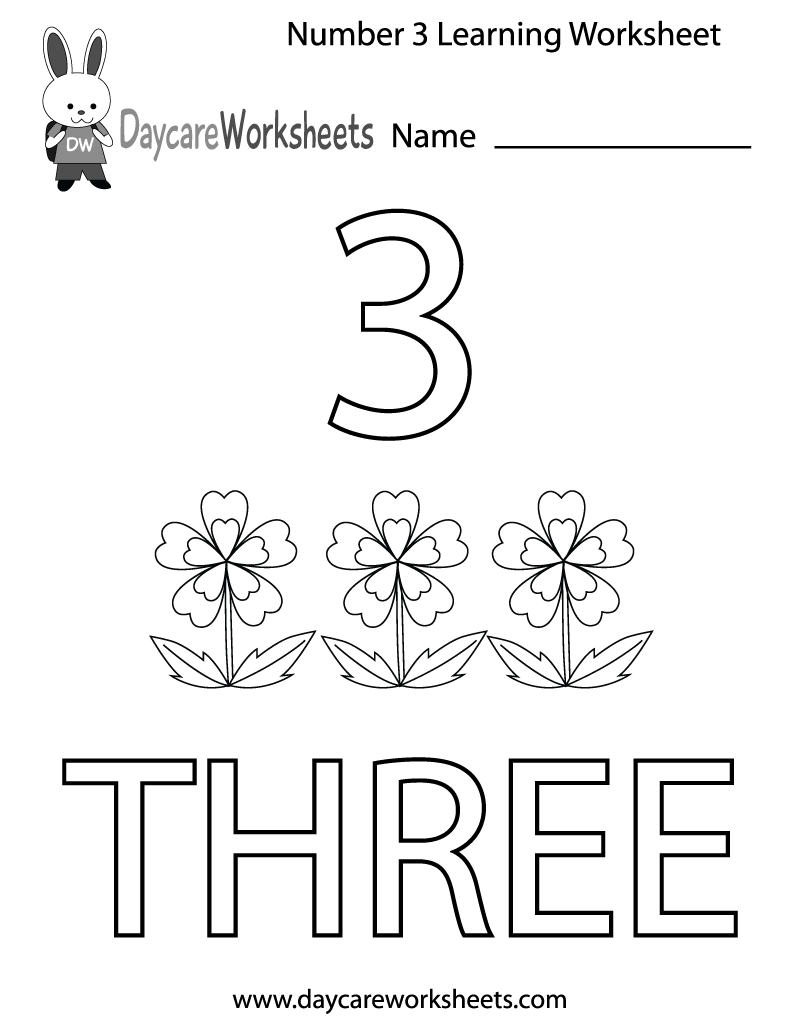5 Images of Free Printable Number 3 Worksheets