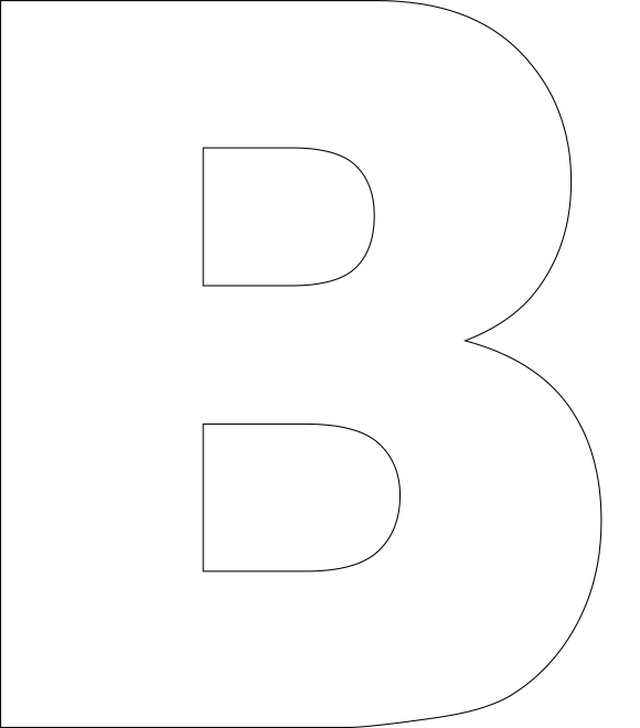 printable letter b outline print letter b 5 best images of printable alphabet outlines printable 955