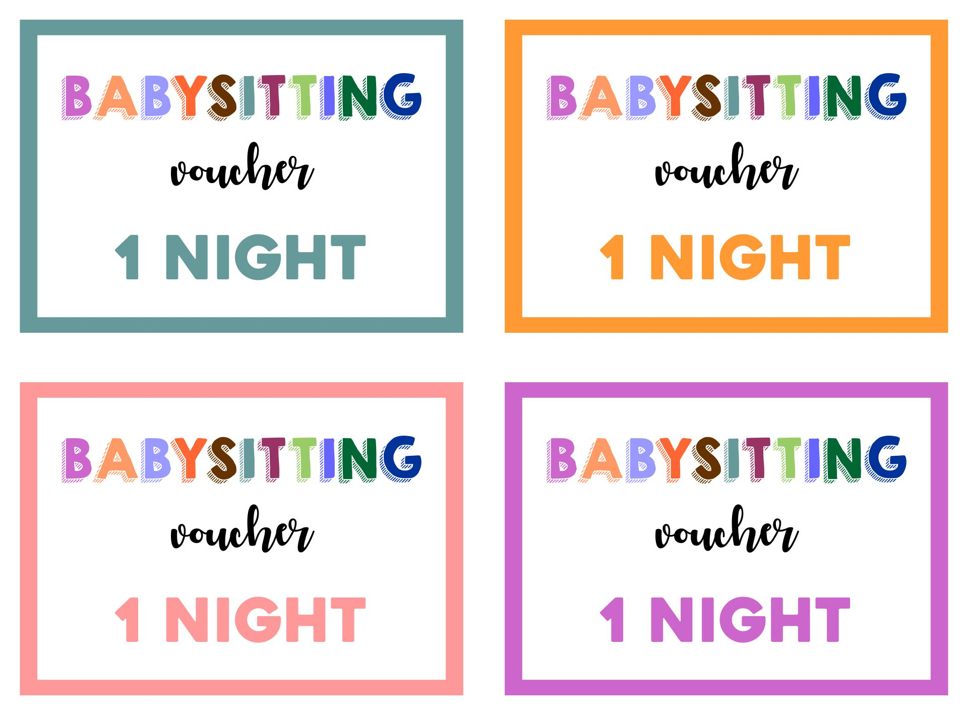 8 best images of printable babysitting voucher template free babysitting coupon template free. Black Bedroom Furniture Sets. Home Design Ideas