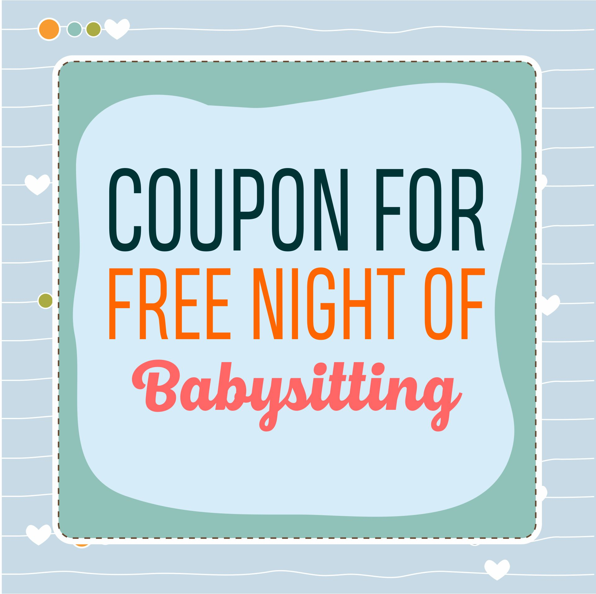 Free Printable Babysitting Coupons Templates