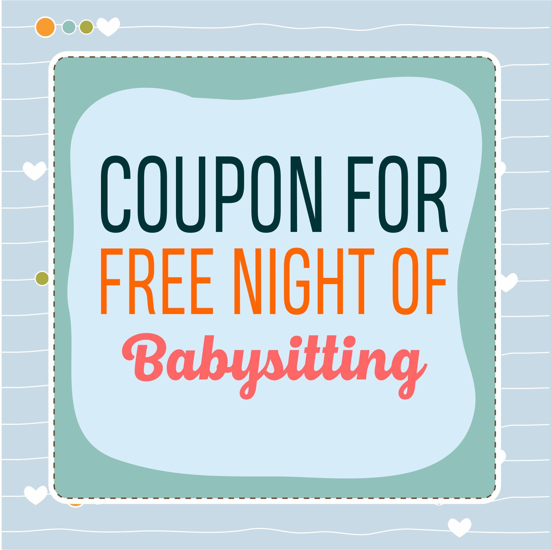 Printable Babysitting Coupons Templates