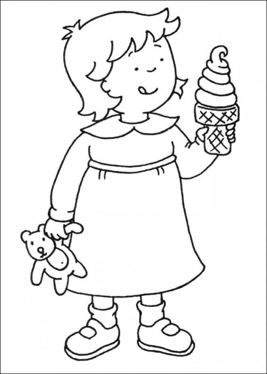 8 Images of Caillou Christmas Coloring Printable