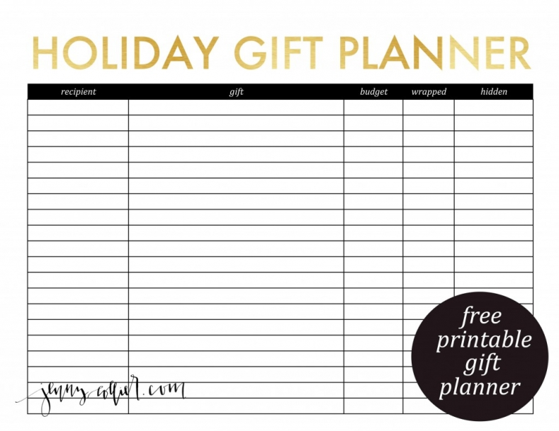 5 best images of christmas gift planner printable christmas planner printables printable. Black Bedroom Furniture Sets. Home Design Ideas