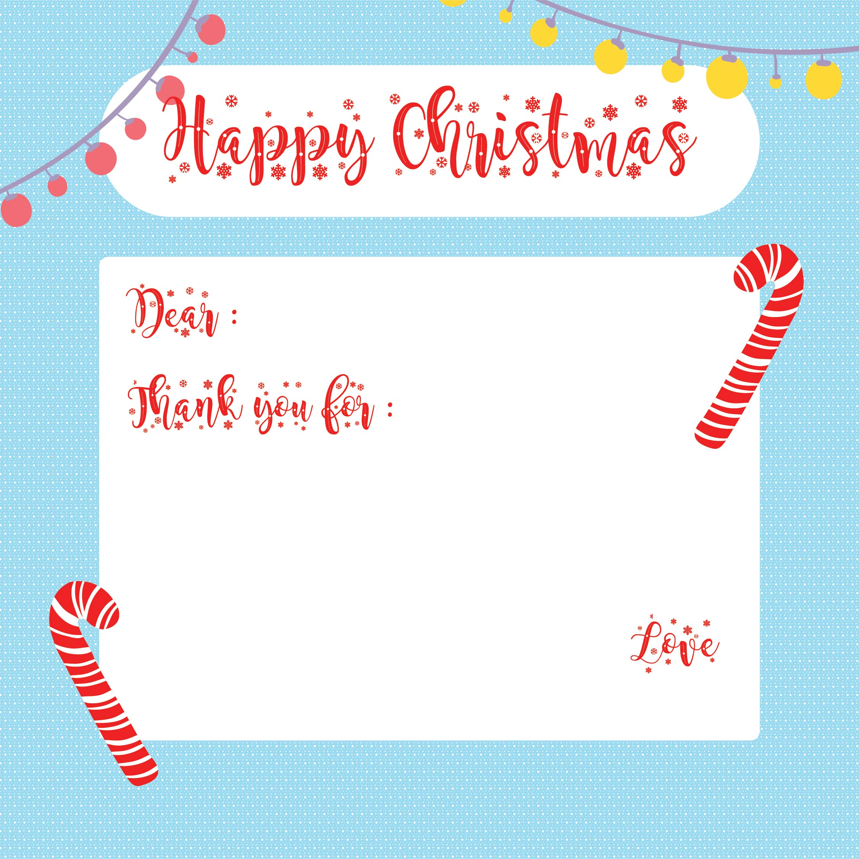 Printable Christmas Thank You Notes