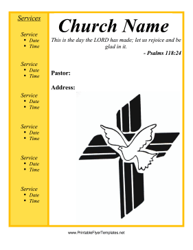 7 Images of Printable Blank Flyers For Church