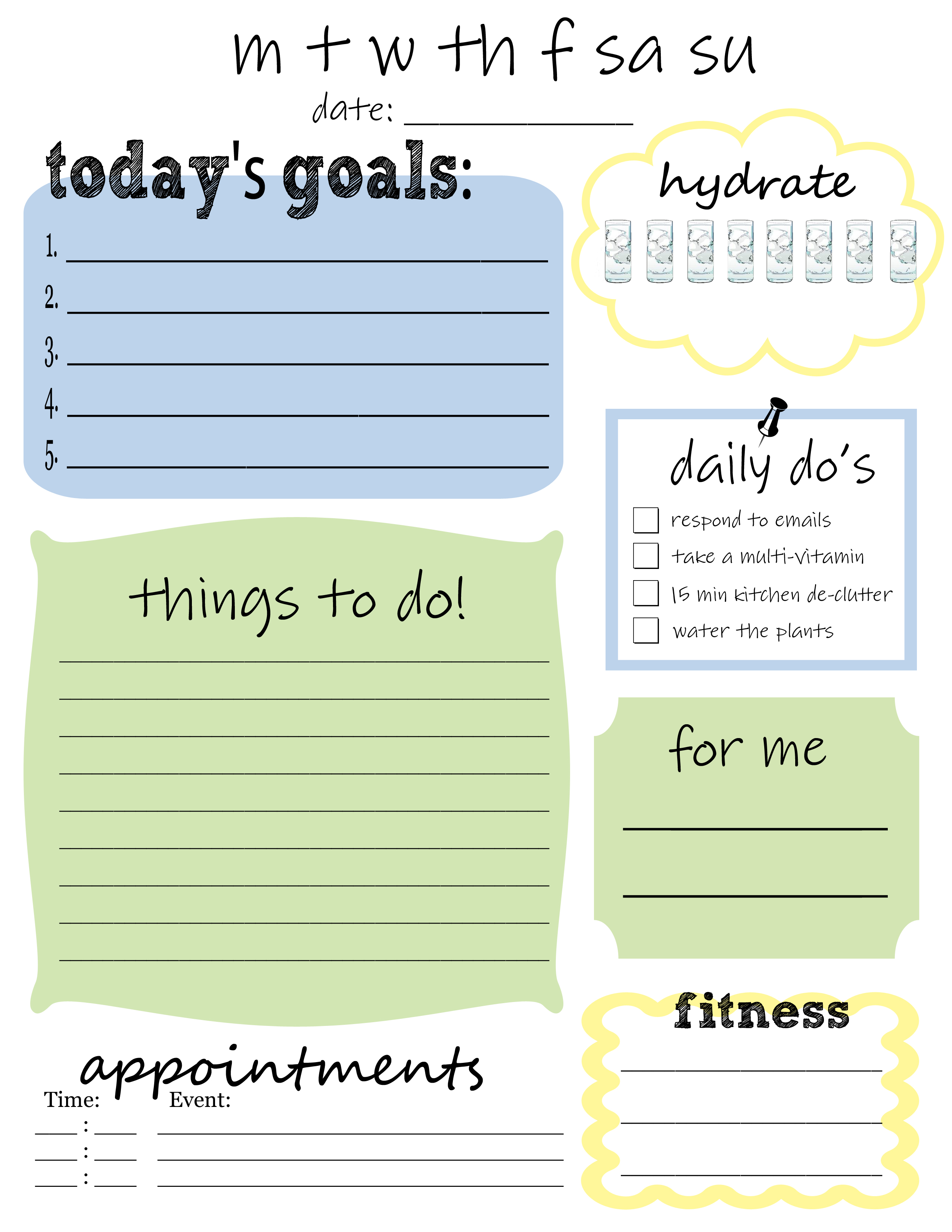 7 Images of Daily Printable Weekly To Do List