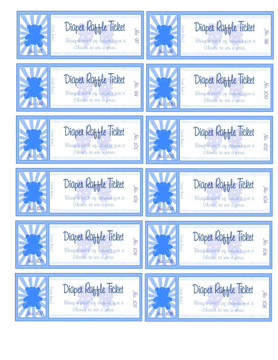 ... Free Printable Raffle Ticket Template Download and Free Printable
