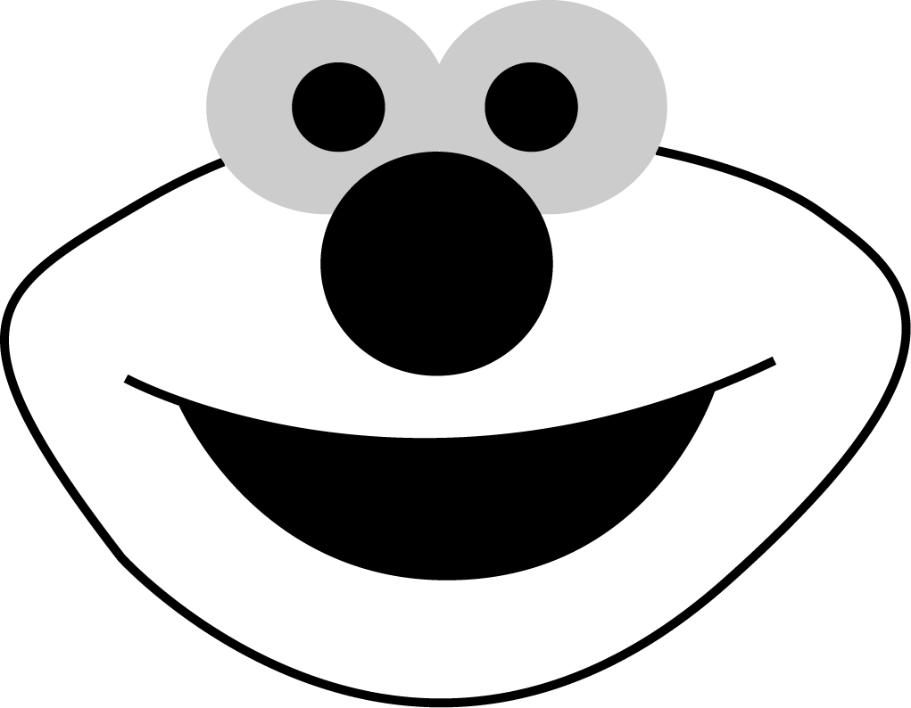 7 best images of free printable elmo templates elmo face for Elmo pumpkin template