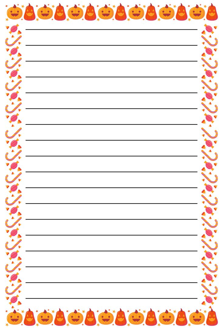 Printable Halloween Lined Writing Paper
