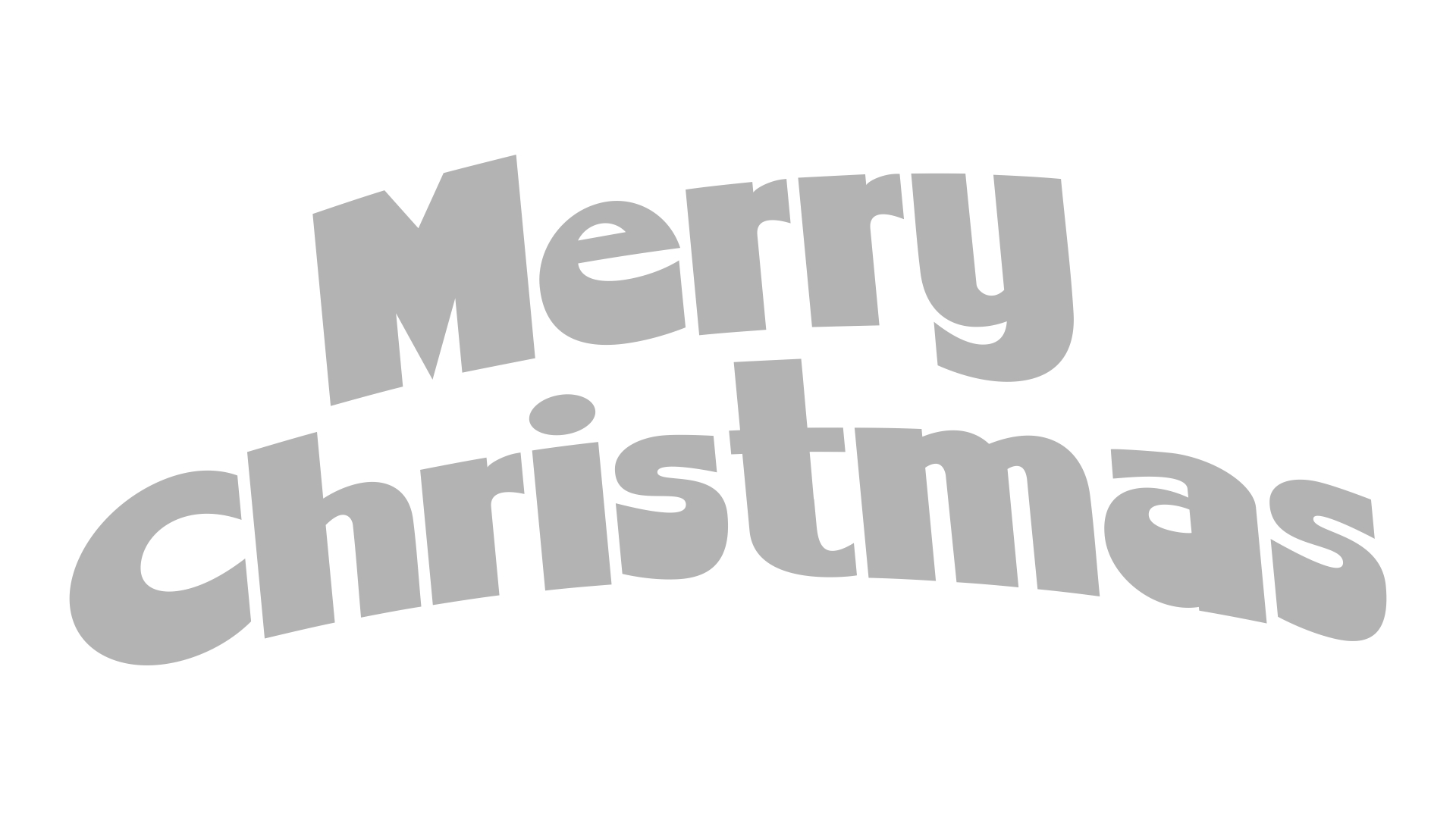 Printable Merry Christmas Stencil