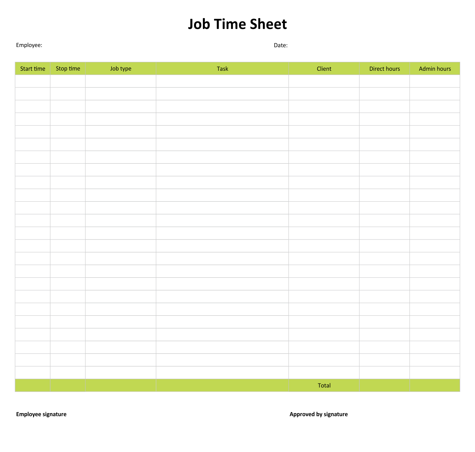 It is a photo of Handy Printable Weekly Timesheet