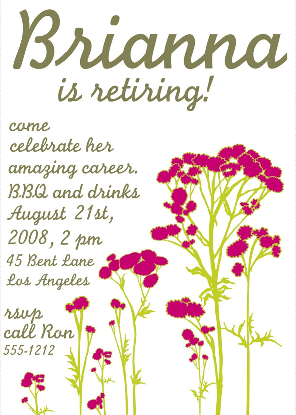 4 Images of Free Printable Retirement Party Invitations