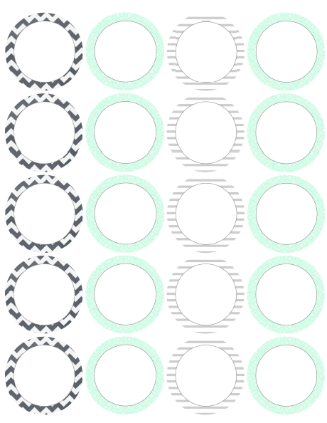 Free Printable Round Label Templates