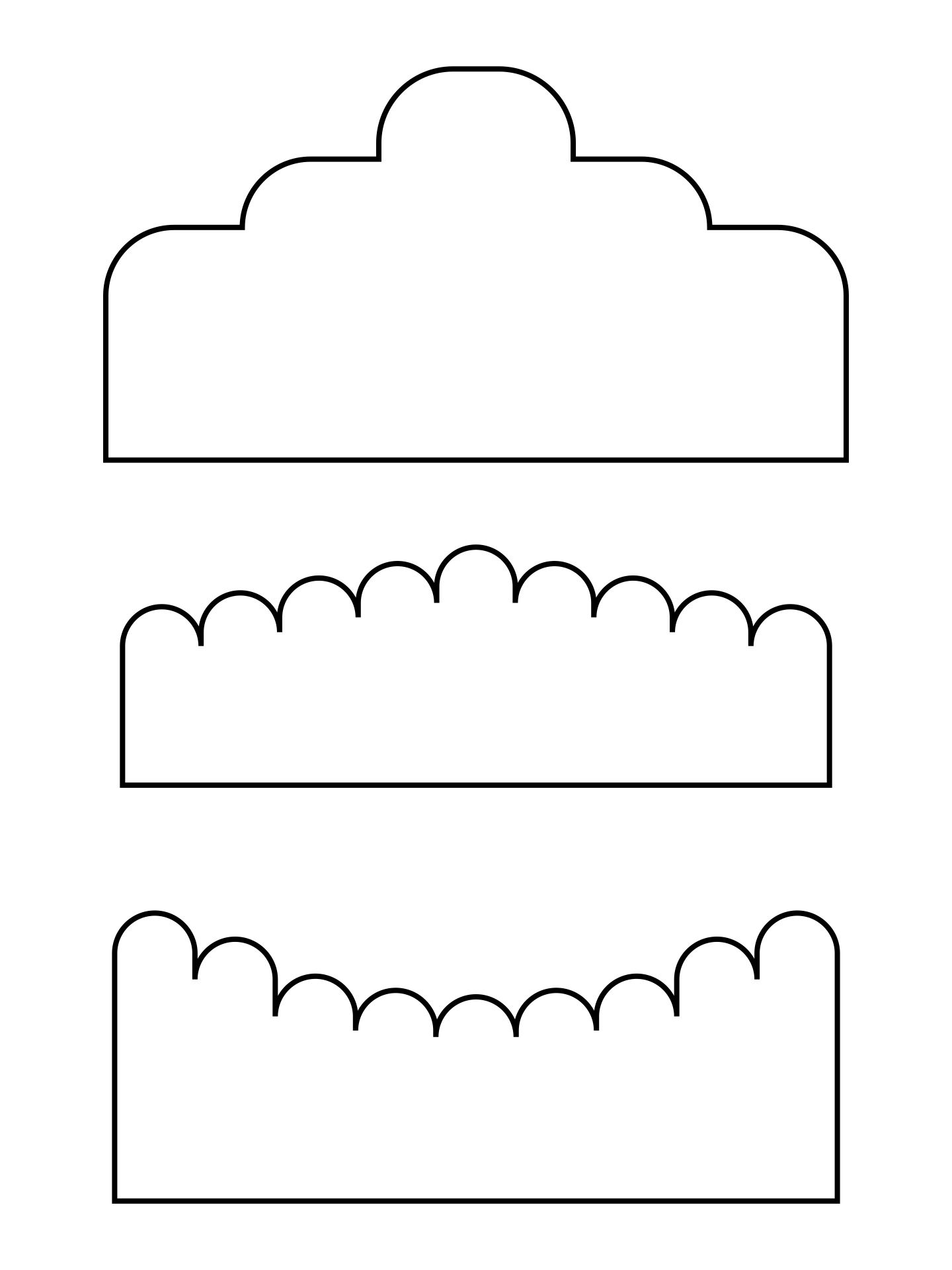 Printable Scalloped Edge Template