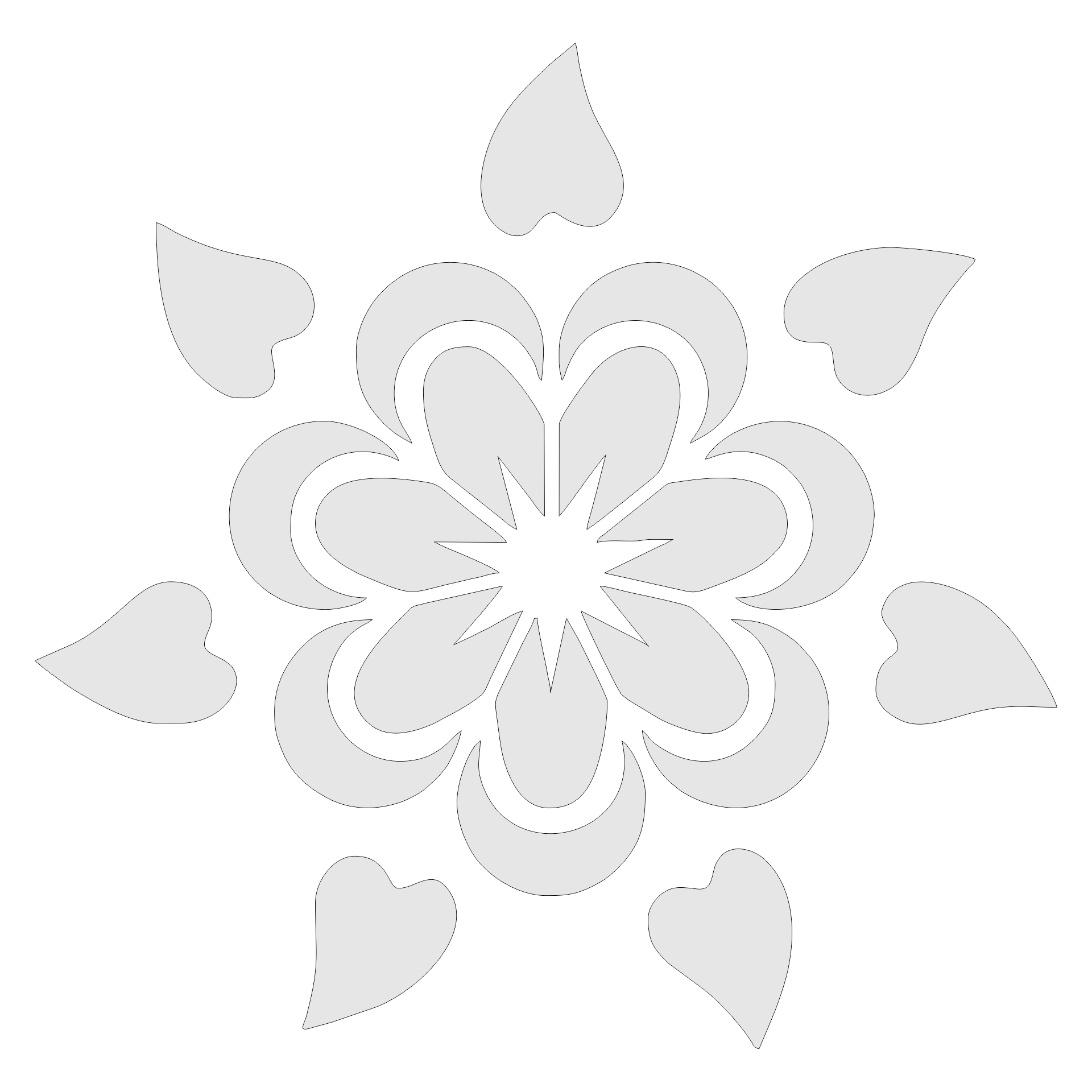 Large Flower Stencils : Best images of large flower stencils printable