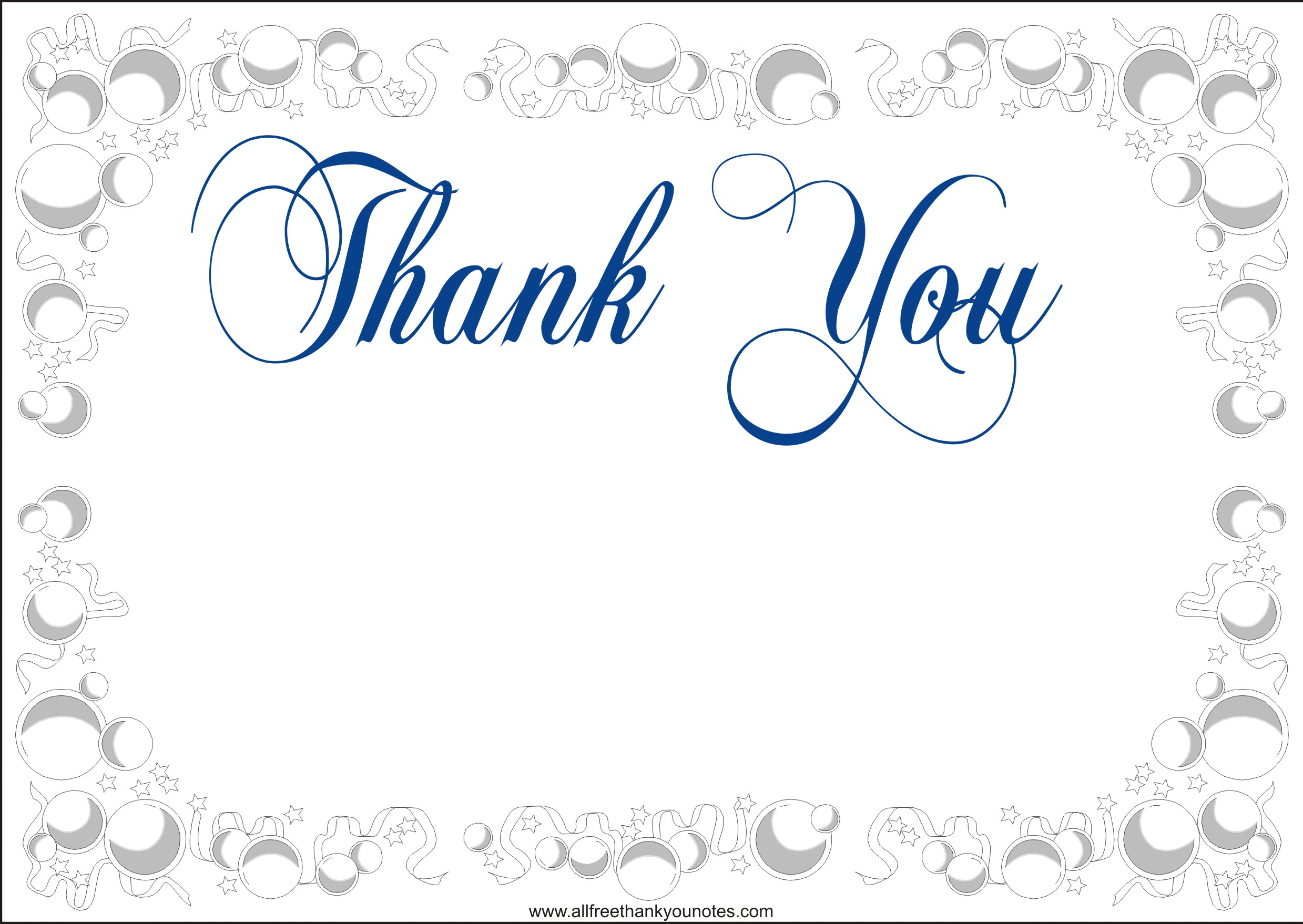 5 Images of Printable Thank You Card Online