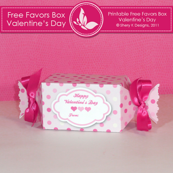 6 Images of Printable Valentine Box