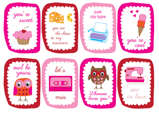 4 Images of Free Printable Mini Valentine Cards