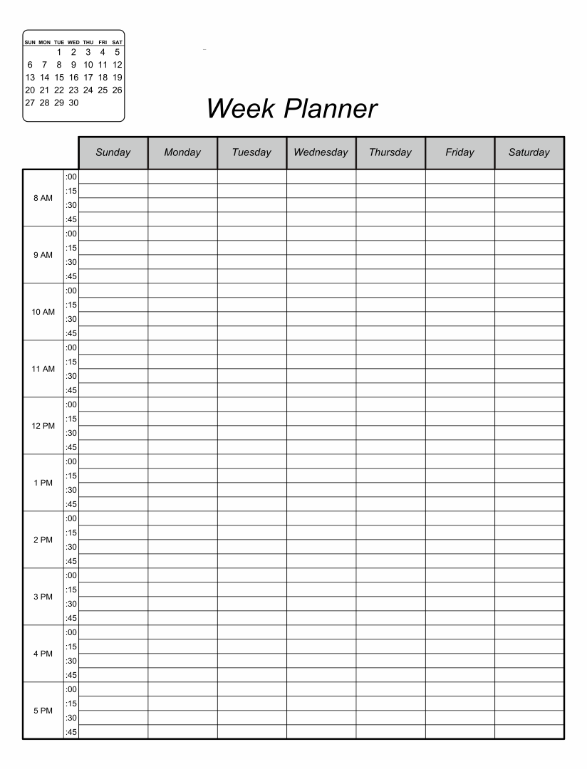Printable Weekly School Planner