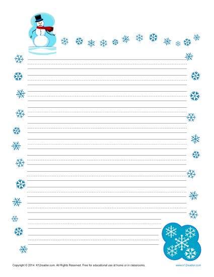 Number Names Worksheets writing paper for kindergarten free : Printable Story Writing Paper For Kindergarten - story starters ...