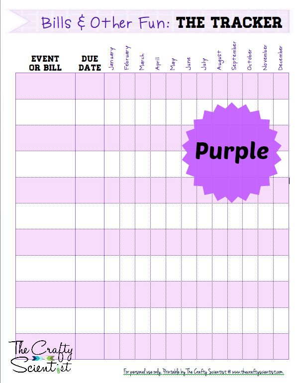 7 Images of Free Printable Bills Tracker