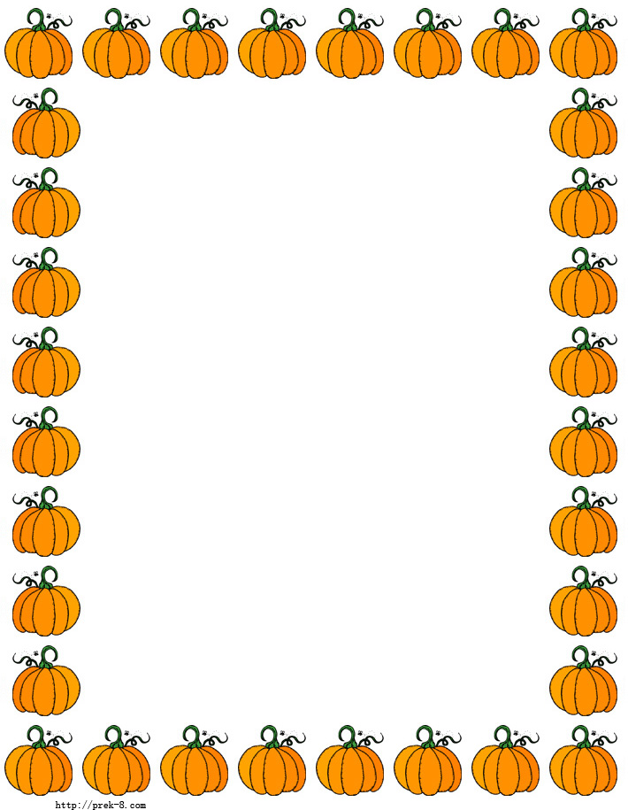 5 Images of Printable Pumpkin Borders