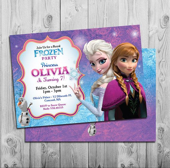 8 Images of Free Frozen Birthday Party Invitations Printable Pink