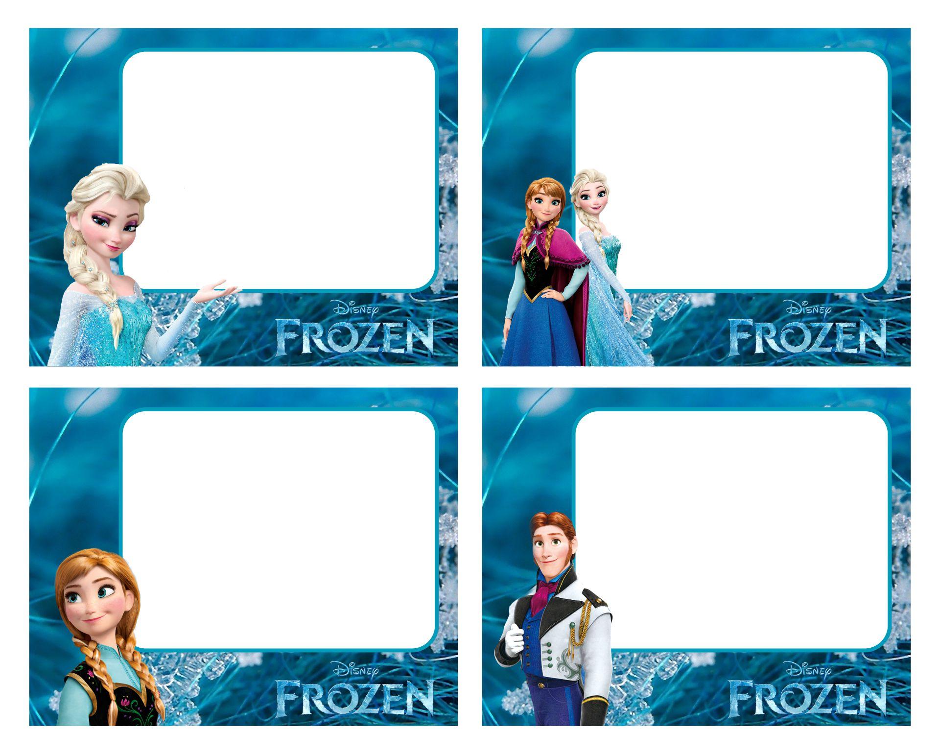 - 8 Best Images Of Frozen Printable Food Tags - Disney Frozen Food