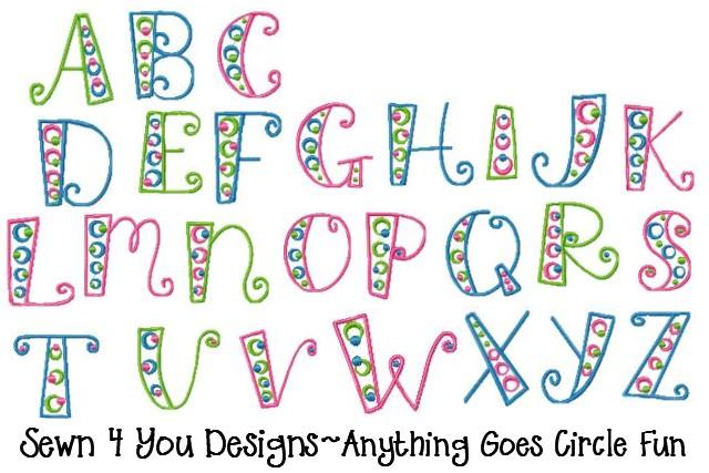 Fun Font Letters Alphabet
