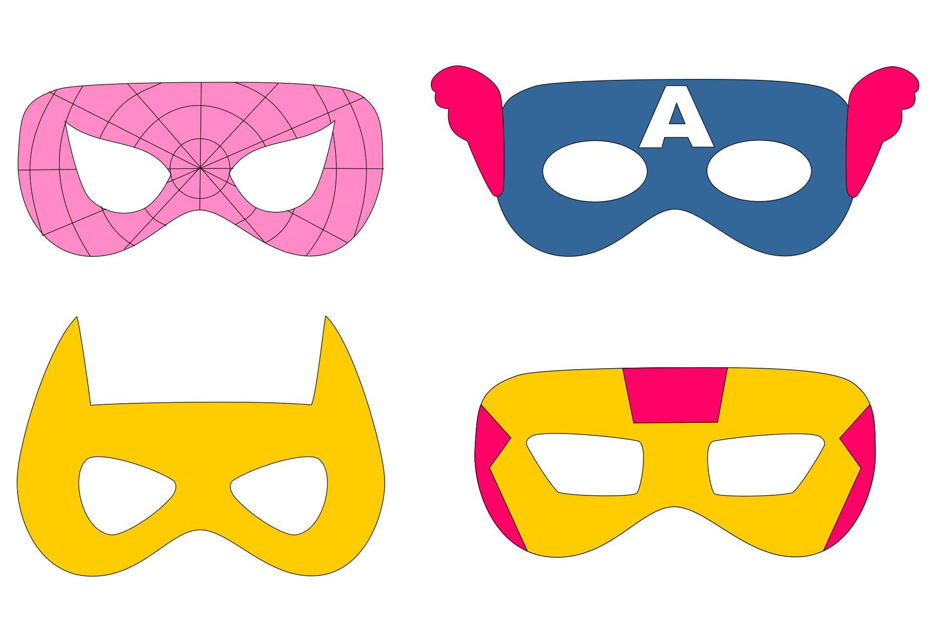 Girl Superhero Mask Printable