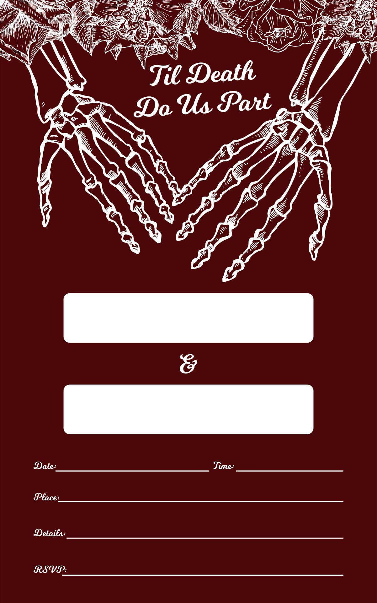 Gothic Halloween Wedding Invitation