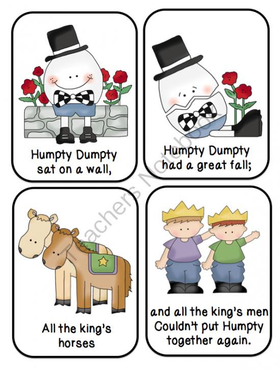 Humpty Dumpty Nursery Rhyme Printable