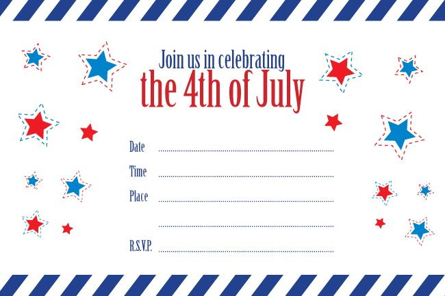5 Images of July 4th Templates Free Printable