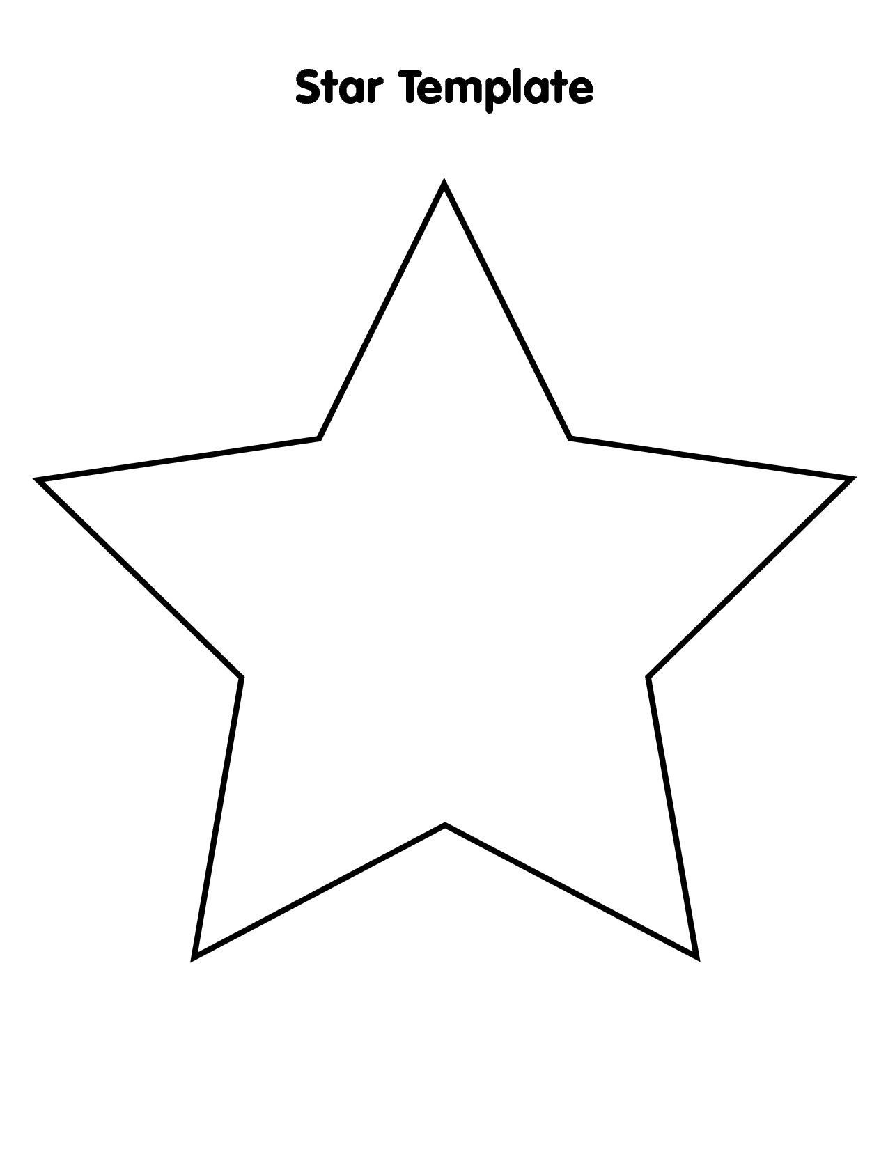 6 Images of Large Star Template Printable