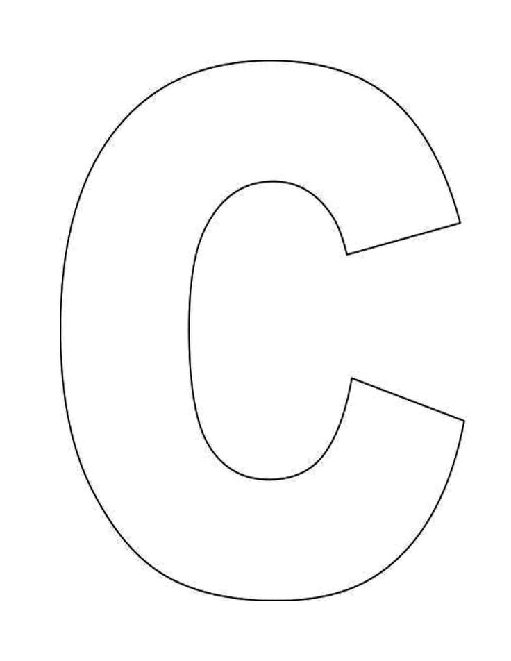 letter c coloring pages for preschoolers - 6 best images of letter c template printable printable