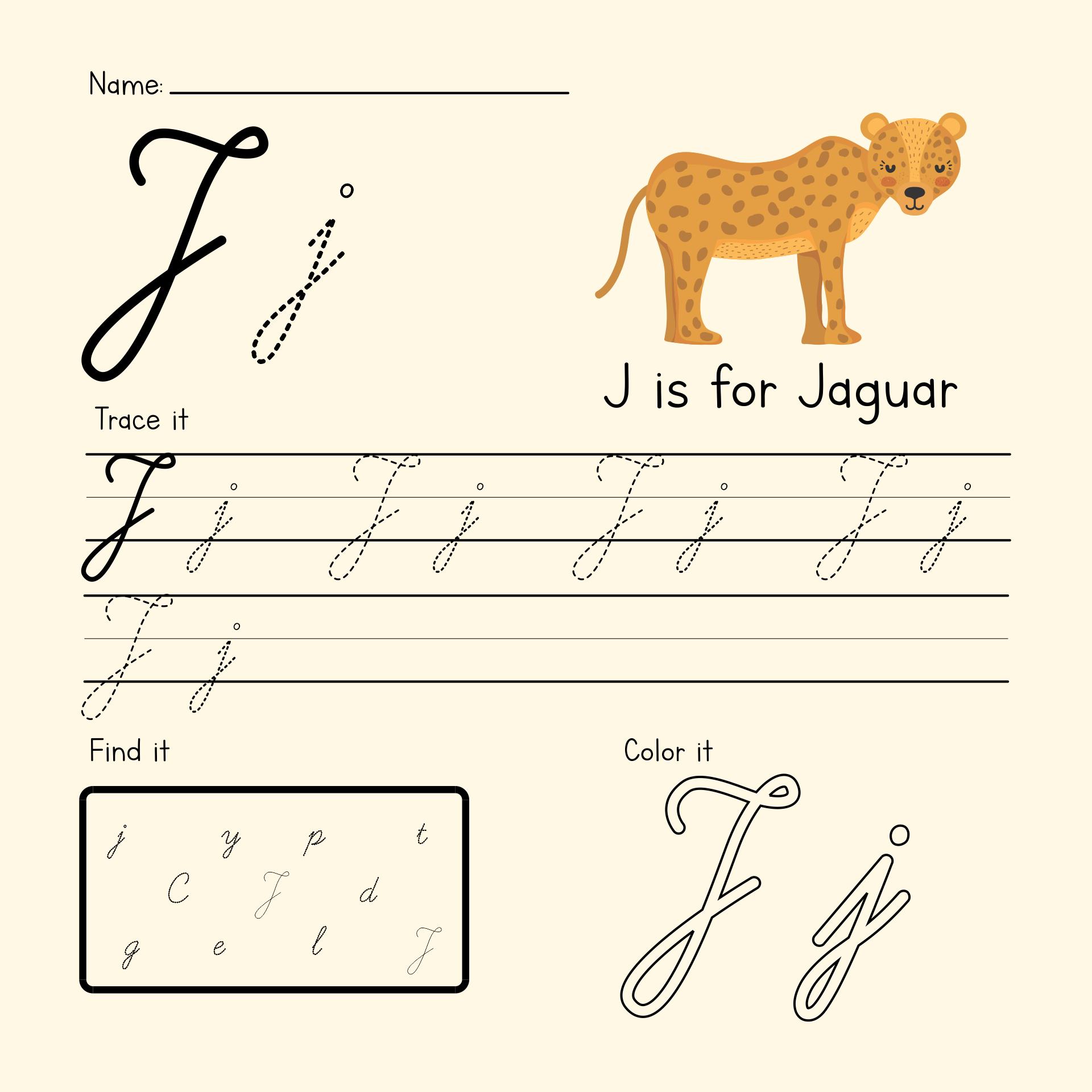 Letter J Worksheets Kindergarten