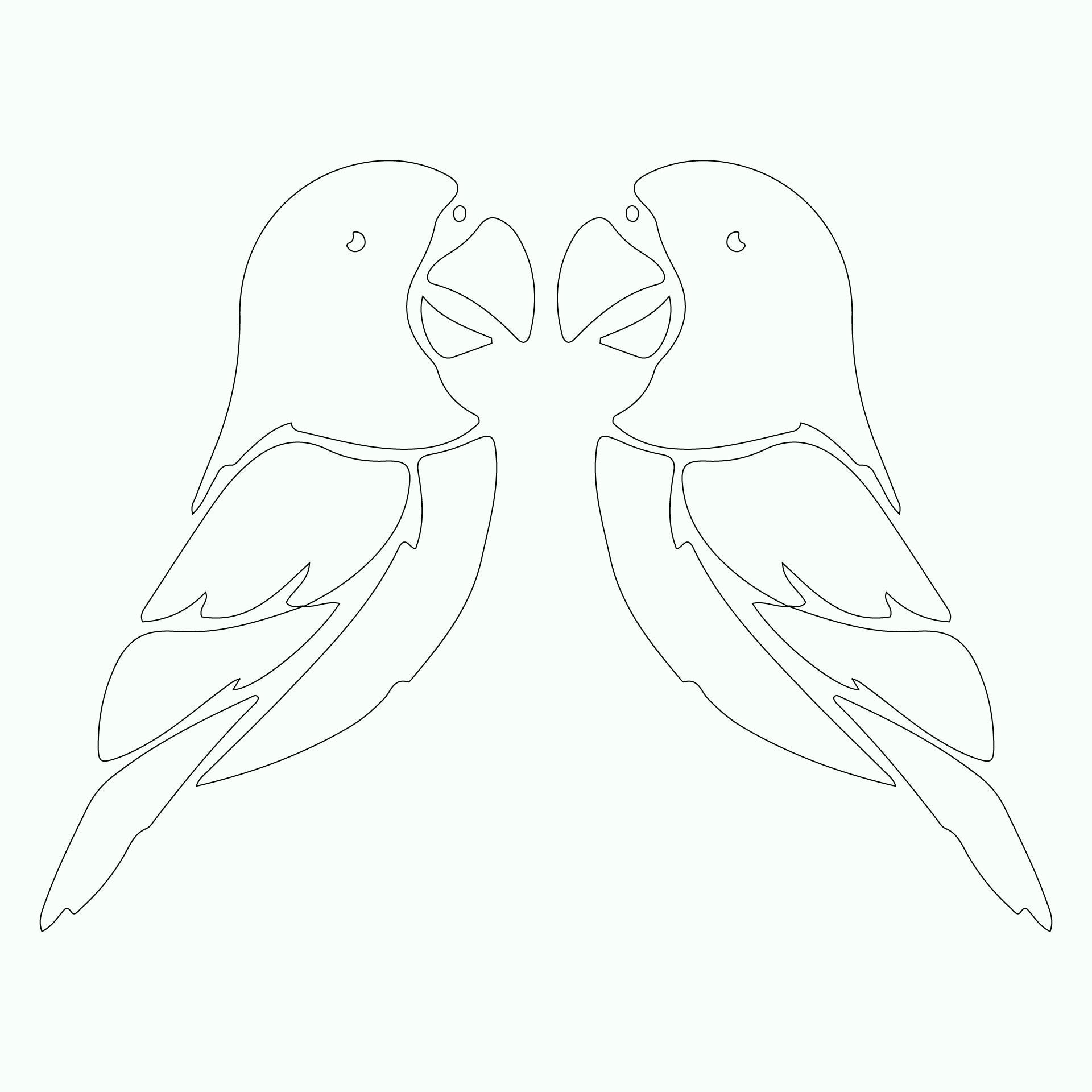 Love Bird Template