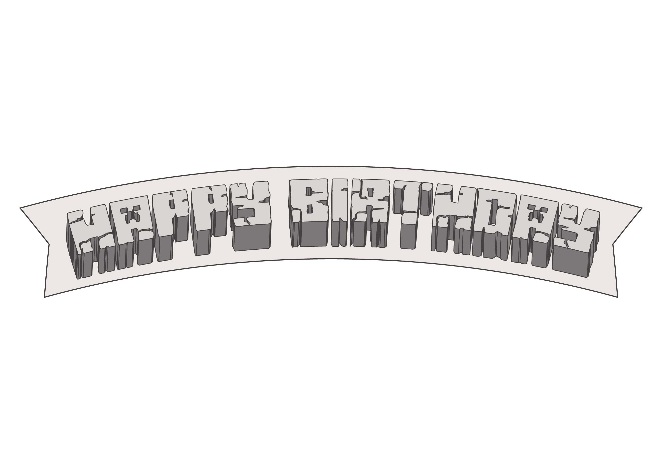 how to make a minecraft birthday banner