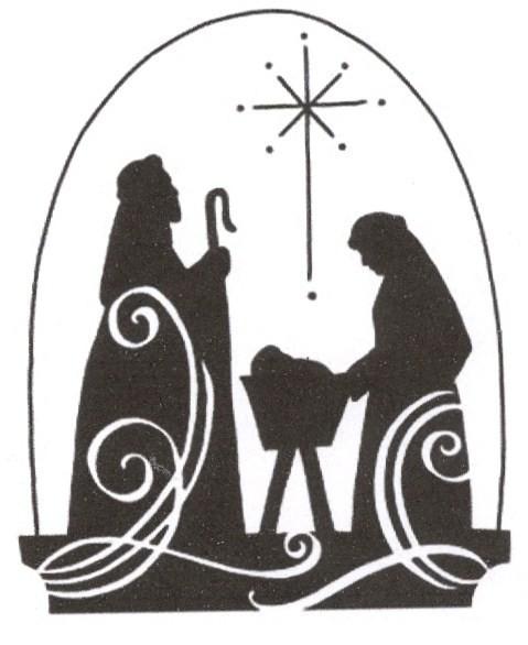 christmas nativity clipart black and white free - photo #41